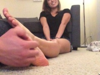 Tickling my Asian Mexican friend's feet