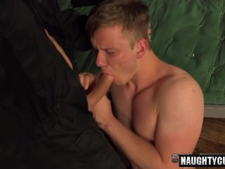 Tattoo gays spanking with cumshot