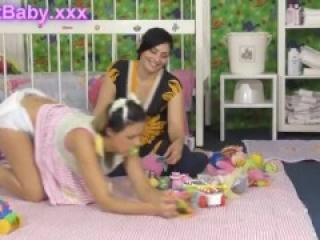 Diaper Change Adult Baby Melanie and Cathy 02
