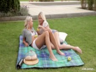 A Girl Knows - Czech lesbians Cayla Lyons and Carla Cox having hot outdoor sex