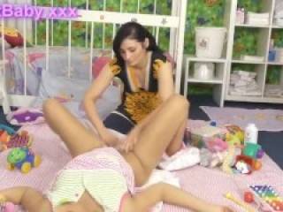 Diaper Change part 2 Melanie + Cathy 03 Adult Baby