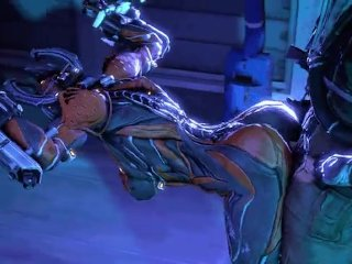 Girl in Warframe have sex