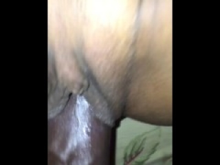 I let my friend fuck and cum over my pussy after a party