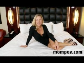 Sexy blonde milf in first time adult video