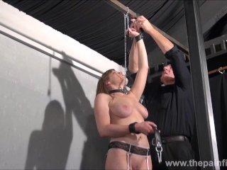 Teen slave Taylor Hearts nipple clamp punishment and pussy torments of beau